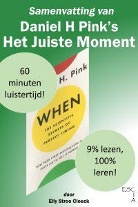 audioboek samenvatting managementboek Het juiste moment